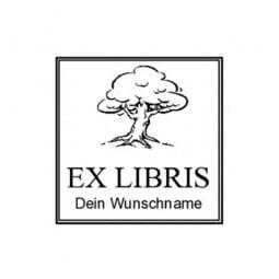 Exlibris Holzstempel / Selbstfärber Colop Q43 (40x40 mm - 2 Zeilen)