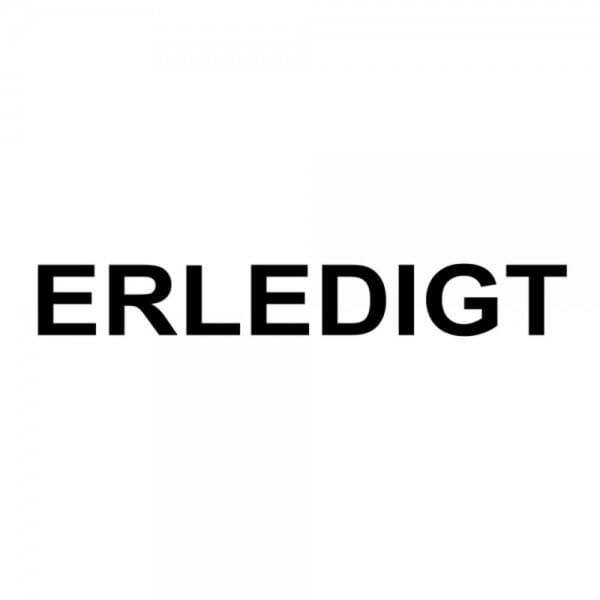 """Holzstempel mit Standardtext """"ERLEDIGT"""""""