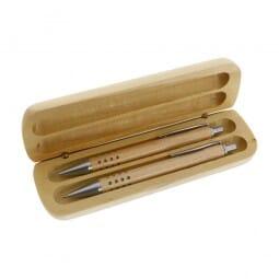 Schreibset Holz (Gravurmaß 14x4,5 cm)
