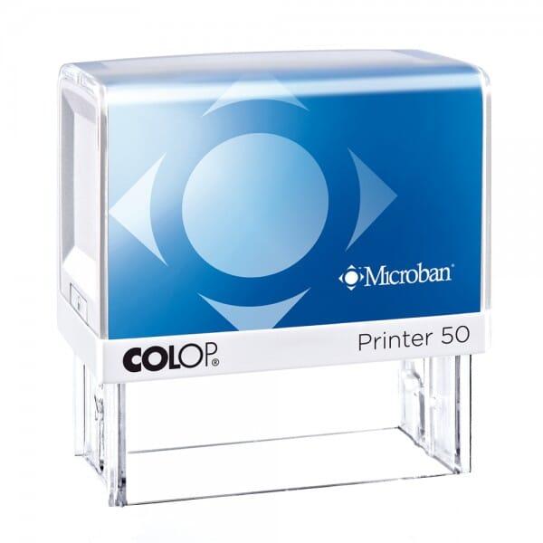 Colop Printer 50 Microban (69x30 mm - 7 Zeilen)