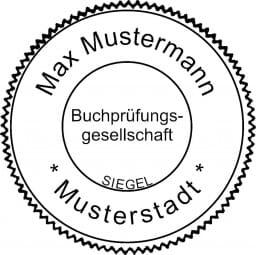 Siegelstempel Vereidigter Buchprüfer (ø55 mm)