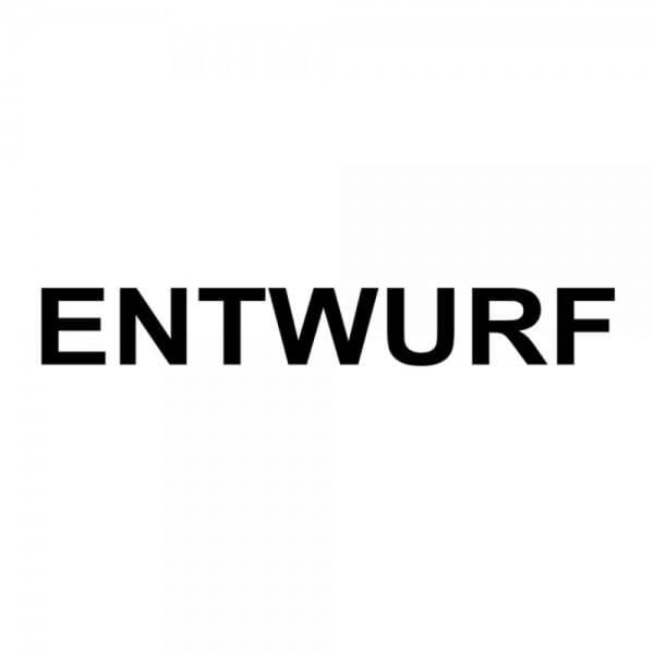 """Holzstempel mit Standardtext """"ENTWURF"""""""