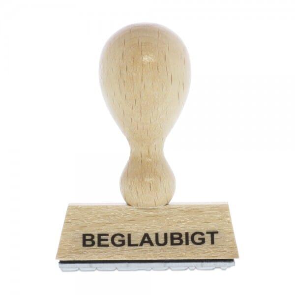 """Holzstempel mit Standardtext """"BEGLAUBIGT"""""""