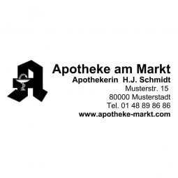 Apothekenstempel Adresse Holzstempel / Colop Printer 35 (50x30 mm - 6 Zeilen)