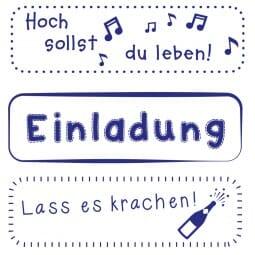 Feierlichkeiten Holzstempel (70x20 mm)