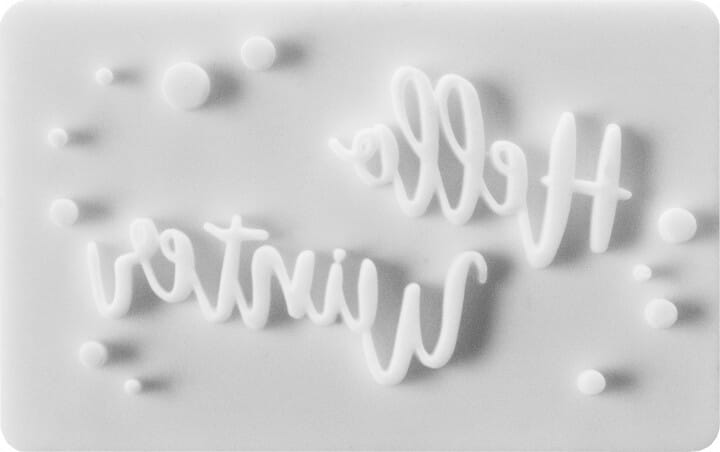 Birkmann Keksstempel mit Hello Winter Motiv (75x47 mm)