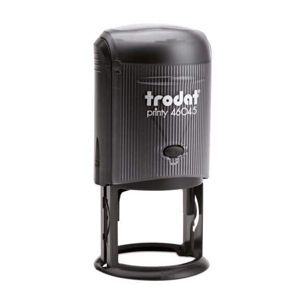 Trodat Printy 46045 - Textstempel - Dm. 45 mm - 8 Zeilen - rund