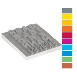 Textplatte für Trodat Mobile Printy PREMIUM 9425-1 (25x25 mm - 6 Zeilen)
