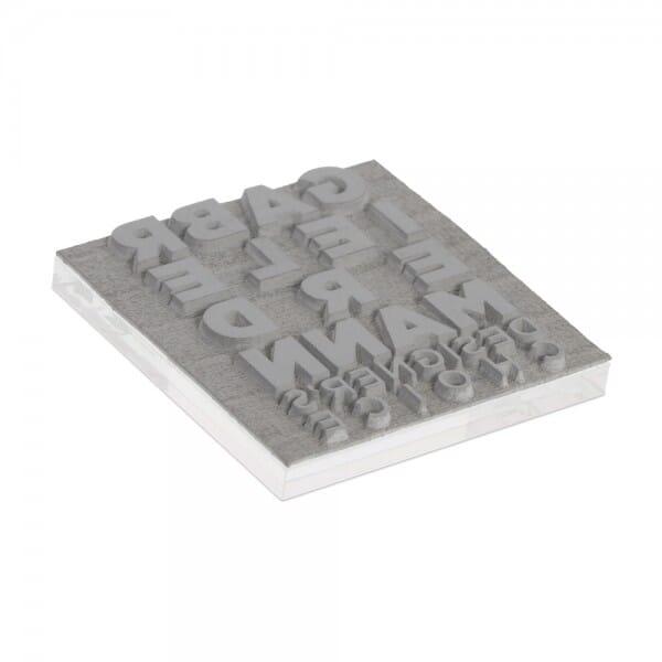 Textplatte für Trodat Printy 4921 - 12 x 12 mm - 2 Zeilen