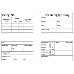Kontierung- Buchhaltung Holzstempel (80x50 mm)