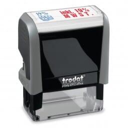 "AKTION - Trodat Office Printy Textstempel ""Inkl. 19% MWSt."""