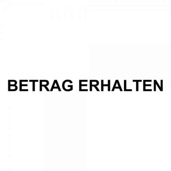 """Holzstempel mit Standardtext """"BETRAG ERHALTEN"""""""