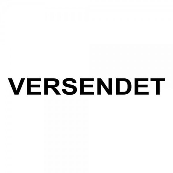 "Holzstempel mit Standardtext ""VERSENDET"""