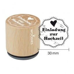 Woodies Stempel - Einladung zur Hochzeit (Herz)
