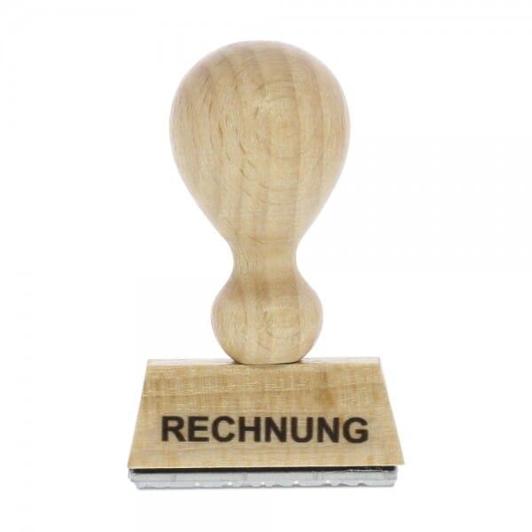 "Holzstempel mit Standardtext ""RECHNUNG"""